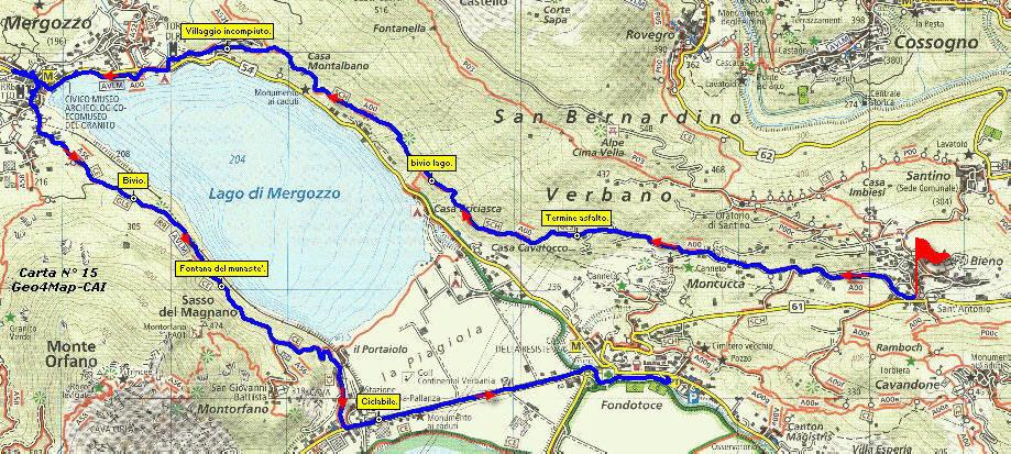 Cartina Lago Maggiore Stradale.Giro Lago Di Mergozzo Sentiero Azzurro